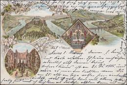 AK Gruss Von Der Ruine Marienburg Bei Alf / Mosel, BULLAY 1896 N. Gelsenkirchen  - Ohne Zuordnung
