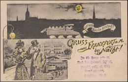 AK Gruss Aus Frankurt Am Main Bei Nacht ..., Ungebraucht, Um 1900 - Ohne Zuordnung