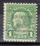 USA Precancel Vorausentwertung Preo, Locals Michigan, Bridgman 632-458 - Vorausentwertungen