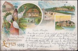 AK Industrie/Gewerbe-Ausstellung Leipzig 1897, TREUEN 19.7.99 N. TROTHA 20.7.99 - Ohne Zuordnung