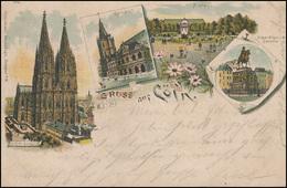 Ansichtskarte: Gruss Aus Köln - Dom / Rathaus / Flora, EF Frankfurt/Main 26.2.97 - Ohne Zuordnung