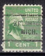 USA Precancel Vorausentwertung Preo, Locals Michigan, Brighton 712 - Vorausentwertungen