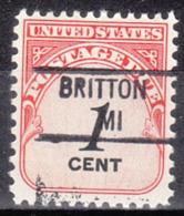 USA Precancel Vorausentwertung Preo, Locals Michigan, Britton 841 - Vorausentwertungen
