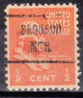 USA Precancel Vorausentwertung Preo, Locals Michigan, Bronson 723 - Vorausentwertungen
