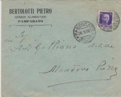 501 -  - STORIA POSTALE - BUSTA - BERTOLOTTI PIETRO - GENERI ALIMENTARI - DA PAMPARATO A MONDOVI' PIAZZA (CUNEO) - 1900-44 Vittorio Emanuele III