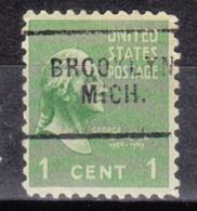USA Precancel Vorausentwertung Preo, Locals Michigan, Brooklyn 703 - Vorausentwertungen