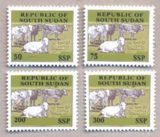 SOUTH SUDAN Proof Unissued Issue 2019 Overprint Cattle SOUDAN Du Sud Südsudan - Sudán Del Sur