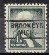 USA Precancel Vorausentwertung Preo, Locals Michigan, Brooklyn 729 - Vorausentwertungen