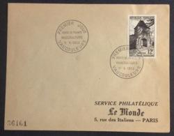 34- Vaucouleurs  Porte De France 921 FDC Premier Jour Vaucouleurs 11/5/1952 Lettre - FDC