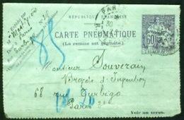 Pneumatique 2599 - 1922 - Postwaardestukken