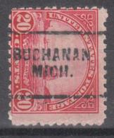 USA Precancel Vorausentwertung Preo, Locals Michigan, Buchanan 698-703 - Vorausentwertungen