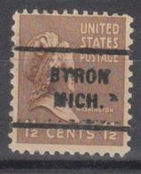 USA Precancel Vorausentwertung Preo, Locals Michigan, Byron 712 - Vorausentwertungen