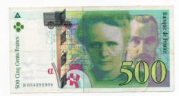 500 Francs - Marie-curie 1994 - 1992-2000 Last Series