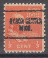 USA Precancel Vorausentwertung Preo, Locals Michigan, Byron Center 704 - Vorausentwertungen