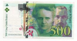 500 Francs - Marie-curie 1994 - 1992-2000 Dernière Gamme