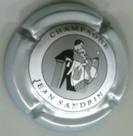 CAPSULE-CHAMPAGNE SANDRIN Jean N°12 Argent - Champagnerdeckel
