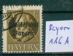 Bayern  MiNr. 116 II A      O / Used  (L994) - Bavaria