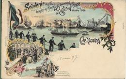 CHERBOURG Souvenir Des Fêtes Russes En FRANCE En 1896 - Cherbourg