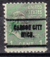 USA Precancel Vorausentwertung Preo, Locals Michigan, Carson City 704 - Vorausentwertungen