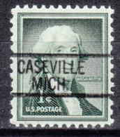 USA Precancel Vorausentwertung Preo, Locals Michigan, Caseville 812 - Vorausentwertungen