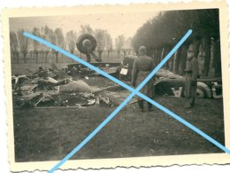 Photo Breedene OOSTENDE English Bomber Crashed November 1941 RAF Air Force Kust WW2 Plane Vliegtuig Flugzeug - Guerre, Militaire