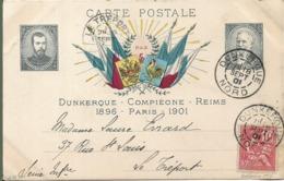 Souvenir De La Visite De L' Empereur Et L' Impératrice De RUSSIE DUNKERQUE REIMS COMPIEGNE PARIS En 1901 - People