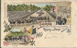 Souvenir Des Fêtes Franco Russes à PARIS En 1896.FRANCE RUSSIE - Francia