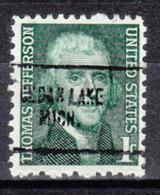 USA Precancel Vorausentwertung Preo, Locals Michigan, Cedar Lake 704 - Vorausentwertungen