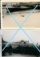 Photox2 OOSTENDE US Bomber B 17 Crashed Februar 1944 Kust Aviation Avion Plane Bombardier WW2 - Guerre, Militaire