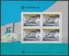 PORTUGAL Block 50, Postfrisch **, Europa CEPT:  Natur- Und Umweltschutz 1986 - Europa-CEPT