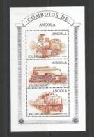 ANGOLA 1997 -1 Min.sheet Trains. MNH - Angola