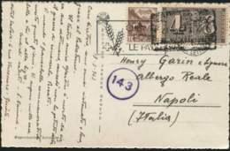 1943-Svizzera Cartolina Geneve Grand Hotel Beau Rivage Affrancata 10c.Castello Di Chillon E 4+6r.Centenario Francobollo. - Switzerland
