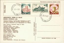 1982- Cartolina Commemorativa Della Campagna Di Ricerca Scientifica Condotta Da J.Piccard Nel Lago Di Bracciano - Publicité