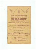 COMMUNE DE LA LONGUEVILLE (NORD) PROGRAMME ORGANISE HARMONIE MUNICIPALE 1955 - Programas
