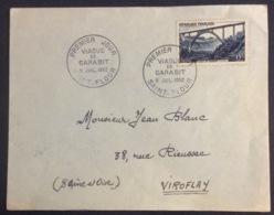 42- Viaduc De Garabit 928 FDC Premier Jour Saint Flour 5/7/1952 Lettre - FDC