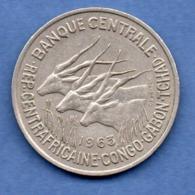 Afrique Centrale  -  50 Francs 1963   -  état  TTB - Colonies