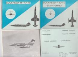 Force Aérienne  Carnet Présentation Lockheed F-104 G  Starfighter - Luchtvaart