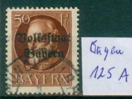 Bayern  MiNr. 125 II A      O / Used  (L1000) - Bavaria