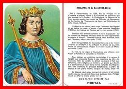 CHROMOS. Beurre PREVAL. Les Rois De France. PHILIPPE IV Le Bel...C713 - Artis Historia