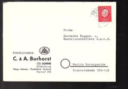 1959 Pinselfabrik C.A> Burhorst Lohne > Wagon Und Maschinenfabrik Berlin-Borsigwalde (Bu12-6) - Briefe U. Dokumente