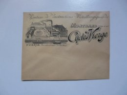 VIEUX PAPIERS - ENVELOPPE : CYCLES VIERGE - Montbard - 1800 – 1899