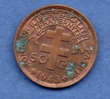 Afrique Equatoriale  -  50 Centimes 1943  -  état  TTB - Colonies