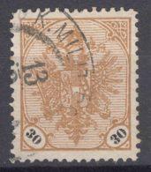 Austria Occupation Of Bosnia 1901 Mi#25 Y - Ribbed Paper, Used - Usados