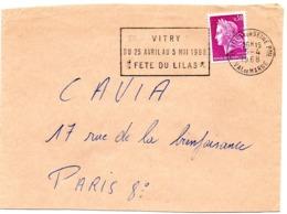 VAL De MARNE - Dépt N° 94  VITRY Sur SEINE Ppal 1968 = FLAMME Codée = SECAP  ' FETE Du LILAS ' - Oblitérations Mécaniques (flammes)