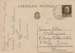 511 -  - STORIA POSTALE - CARTOLINA POSTALE - CENTESIMI 30 - 1900-44 Vittorio Emanuele III