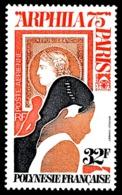 POLYNESIE 1975 - Yv. PA 92 **   Cote= 10,00 EUR - Expo Phil. ARPHILA75 à Paris  ..Réf.POL24399 - Poste Aérienne