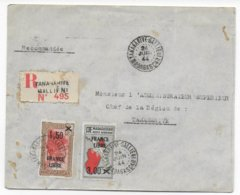 MADAGASCAR - 1944 - FRANCE LIBRE - ENVELOPPE LOCALE RECOMMANDEE De TANANARIVE - Madagascar (1889-1960)
