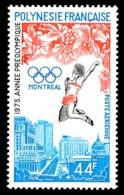 POLYNESIE 1975 - Yv. PA 96 **   Cote= 13,40 EUR - Jeux Olympiques De Montréal  ..Réf.POL24401 - Poste Aérienne