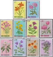 San Marino 984-993 (kompl.Ausg.) Postfrisch 1971 Blumen - San Marino