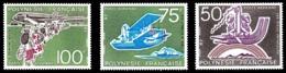 POLYNESIE 1974 - Yv. PA 89 90 Et 91 **   Cote= 72,00 EUR - 50 Ans D'aviation à Tahiti (3 Val.)  ..Réf.POL24398 - Poste Aérienne